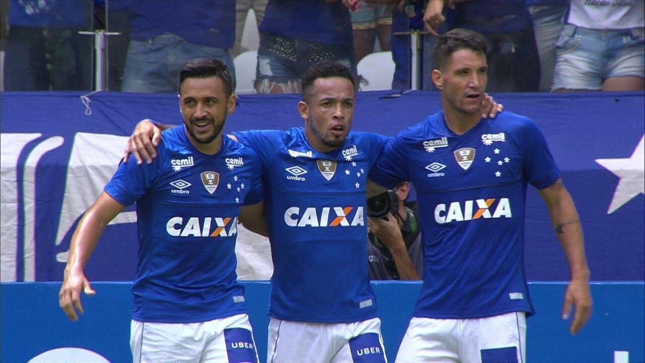 9699b7a447 Os gols de Cruzeiro 2 x 1 Tupi pela semifinal do Campeonato Mineiro