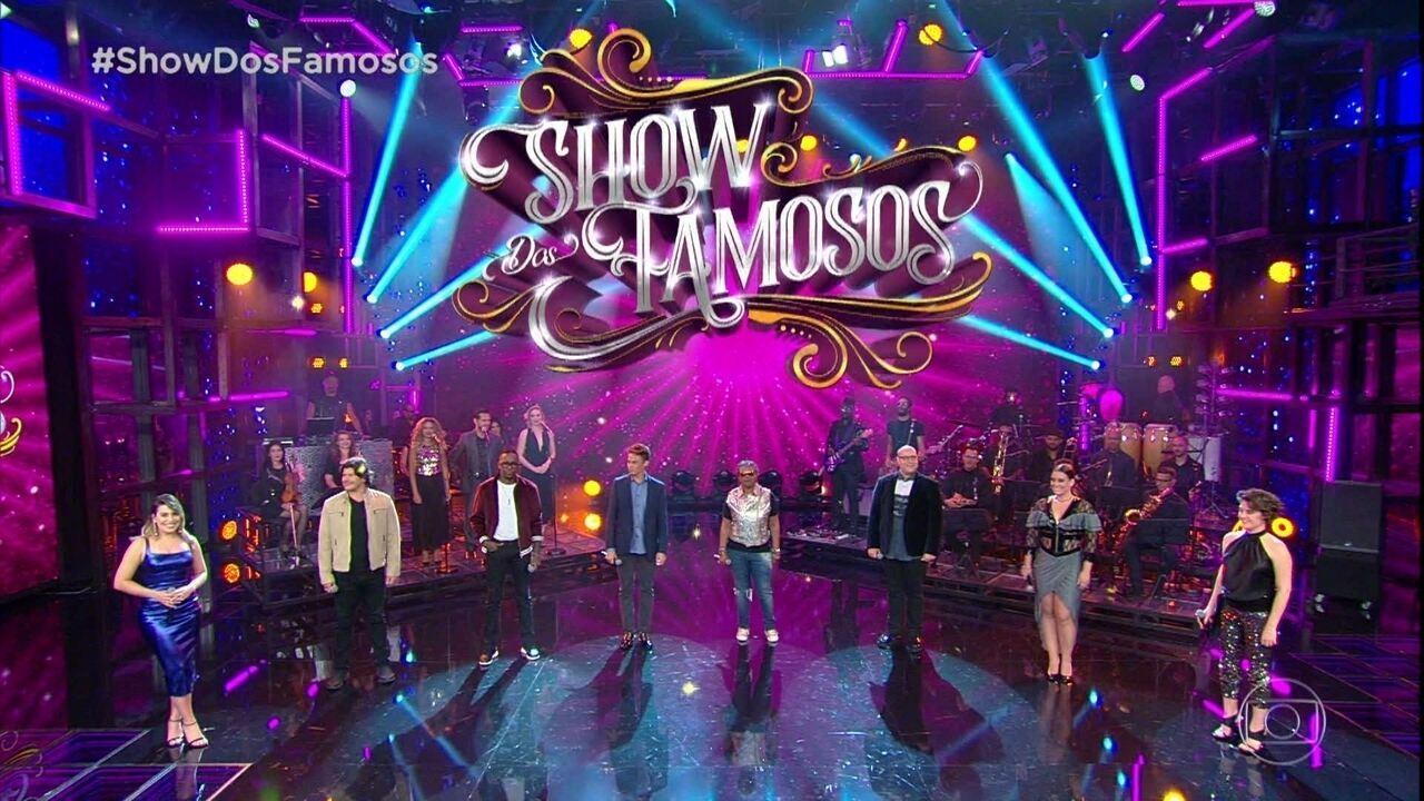 Faustão apresenta os concorrentes do 'Show dos Famosos' de 2018