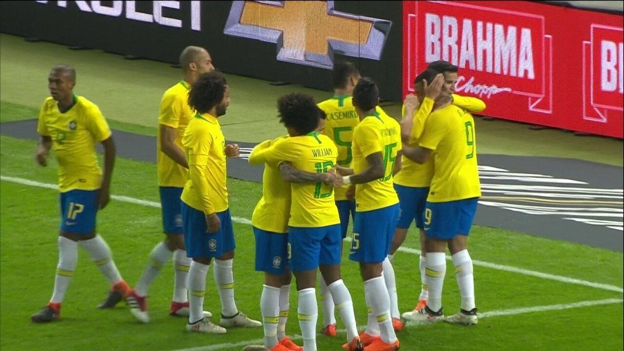 Gabriel Jesus marcou o gol da vitória brasileira sobre a Alemanha, em Berlim
