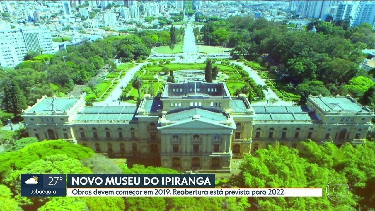 Obras no Museu do Ipiranga devem começar em 2019; reabertura está prevista para 2022