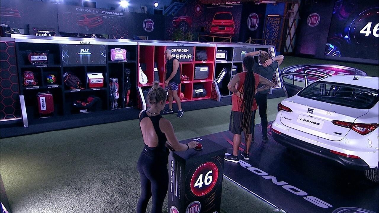 Brothers guardam os itens na Garagem em nova rodada da Prova Fiat Cronos na Bagagem