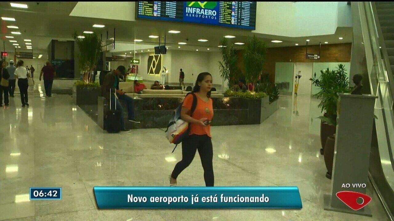 Novo aeroporto de Vitória já está funcionando