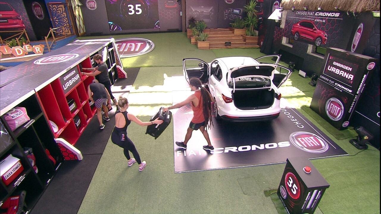 Brothers cumprem etapa da Prova do Líder Fiat Cronos e colocam itens na Garagem Urbana