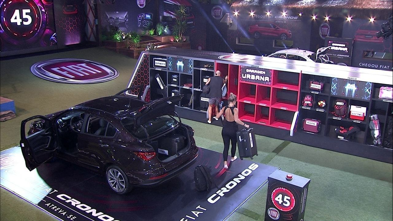 Kaysar e Jéssica cumprem mais uma etapa da Prova do Líder Fiat Cronos na Bagagem