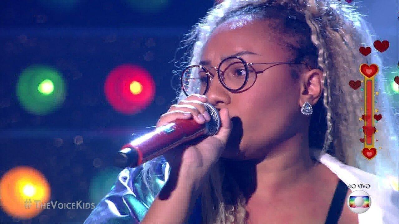 Talita Cipriano canta 'Crazy' na semifinal ao vivo do The Voice Kids e carimba o passaporte para a final da atração