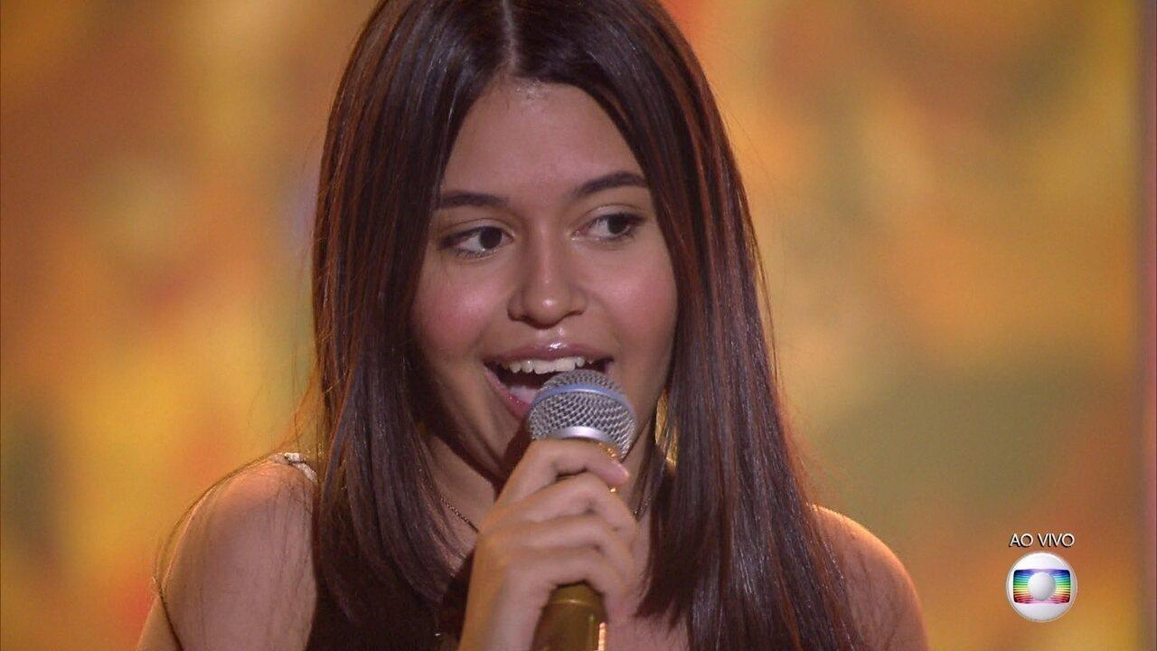 Eduarda Brasil canta 'Feira de mangaio' na semifinal do The Voice Kids