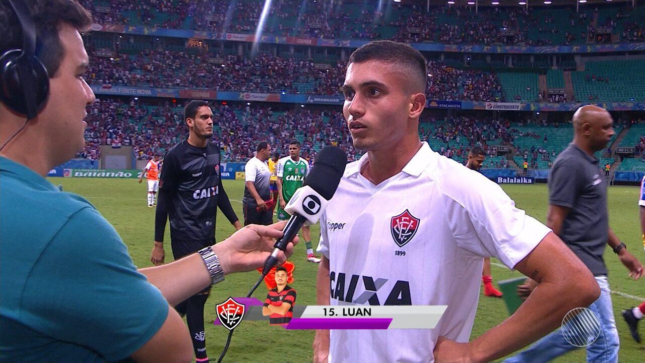 Luan fala sobre Bahia 2 x 1 Vitória
