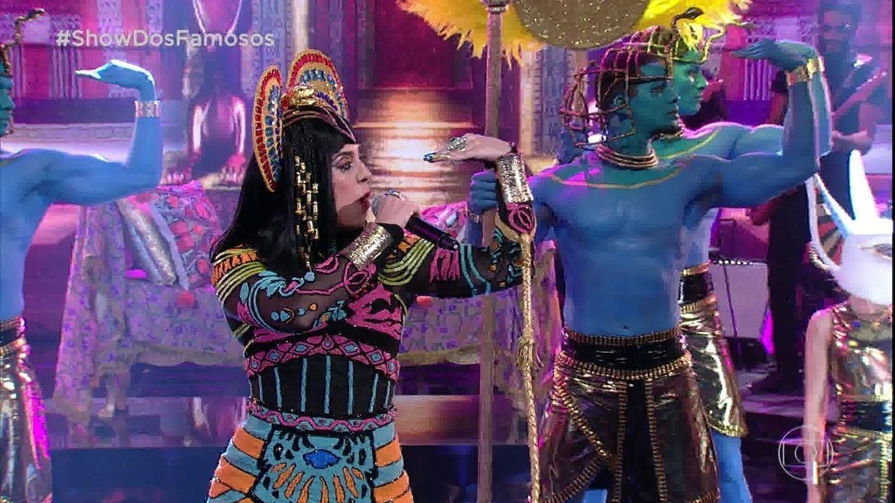 Naiara Azevedo estreia no 'Show dos Famosos' como Katy Perry