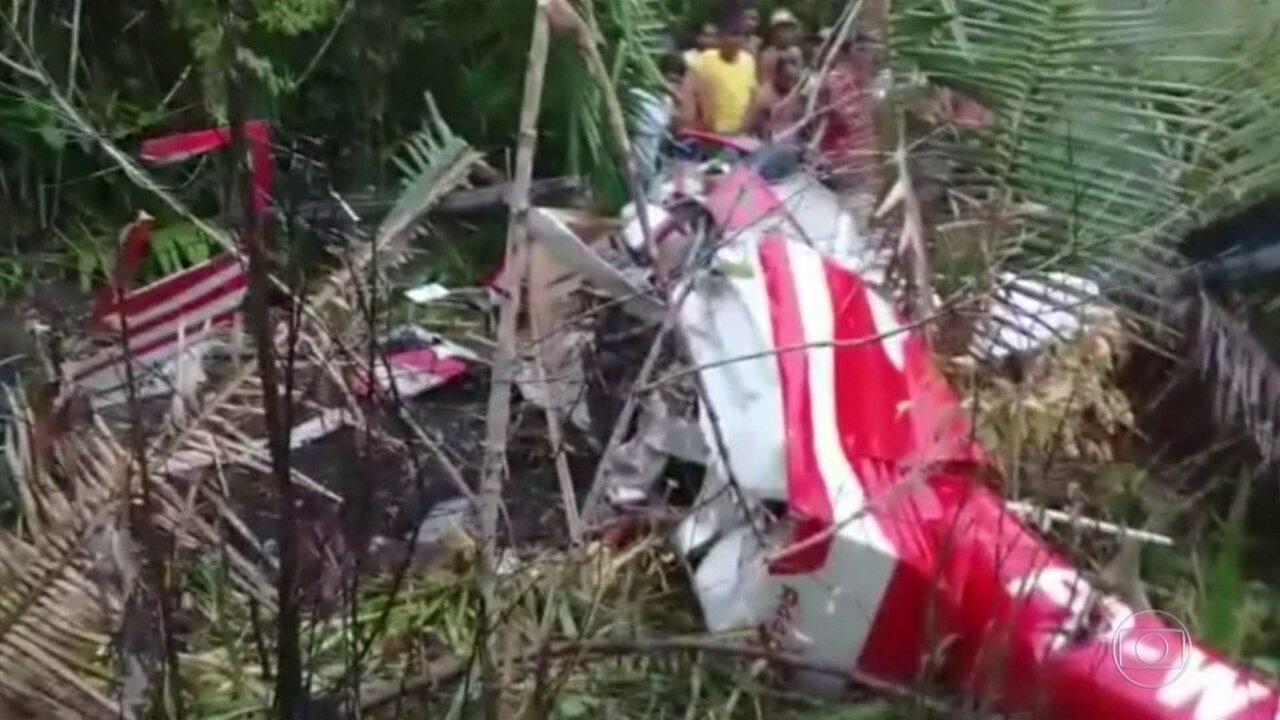Quatro pessoas morrem na queda de helicóptero no Maranhão