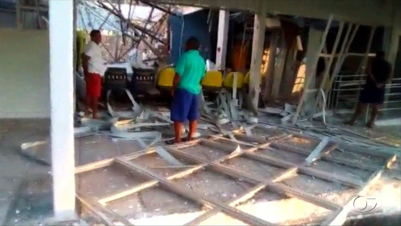 Criminosos explodem agências bancárias em Maribondo e Piranhas
