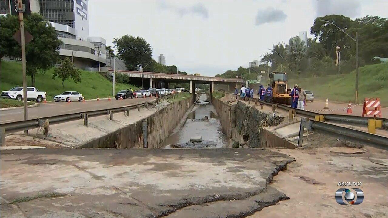 Obras emergenciais da Marginal Botafogo só devem ficar prontas no final do mês