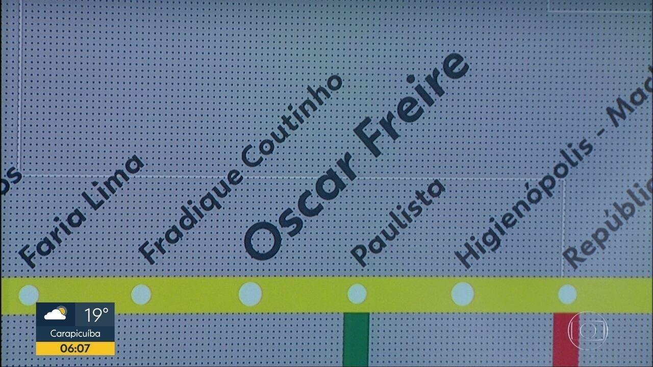 Metrô de SP inaugura estação Oscar Freire da Linha 4-Amarela nesta quarta-feira