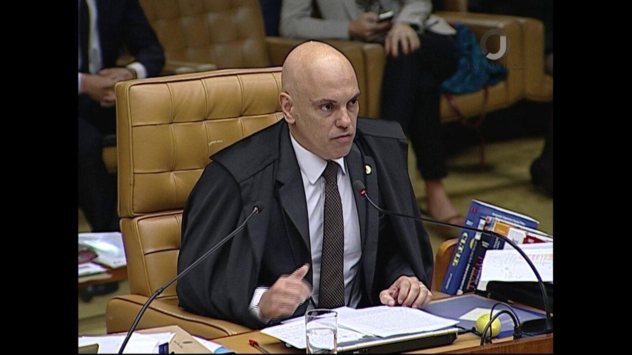 Na íntegra: Alexandre de Moraes vota contra habeas corpus a Lula