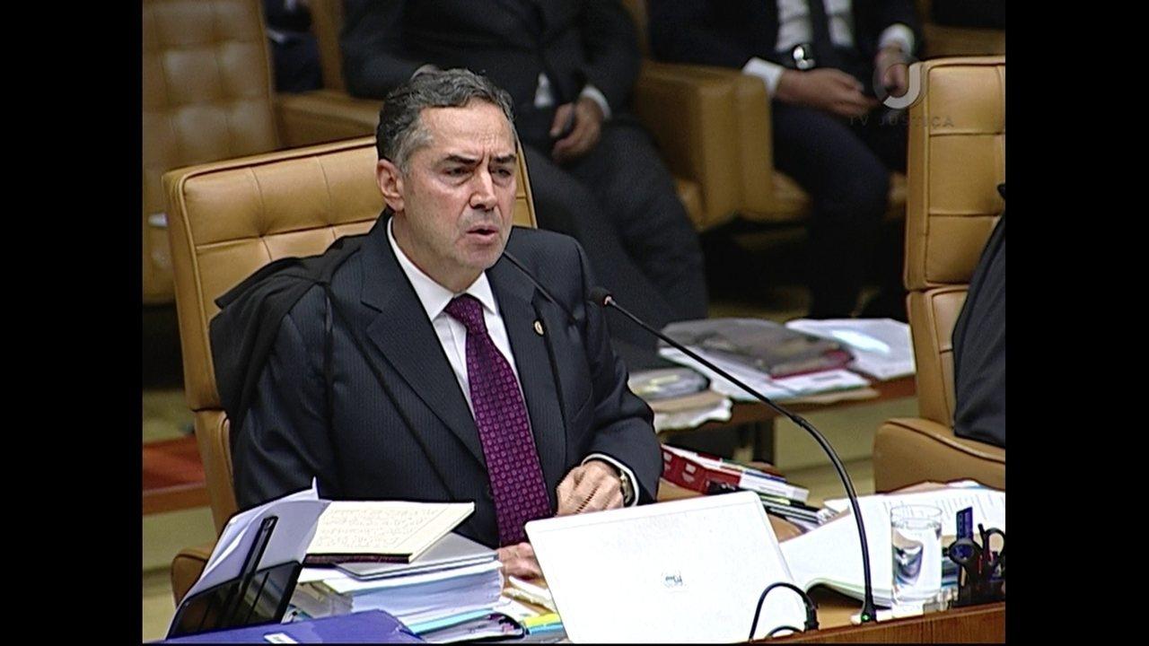 Luís Roberto Barroso vota no julgamento do habeas corpus para Lula