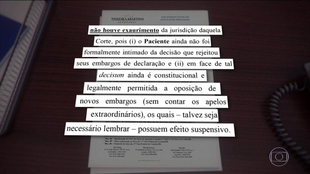Defesa de Lula entra com 2º pedido de habeas corpus junto ao STJ