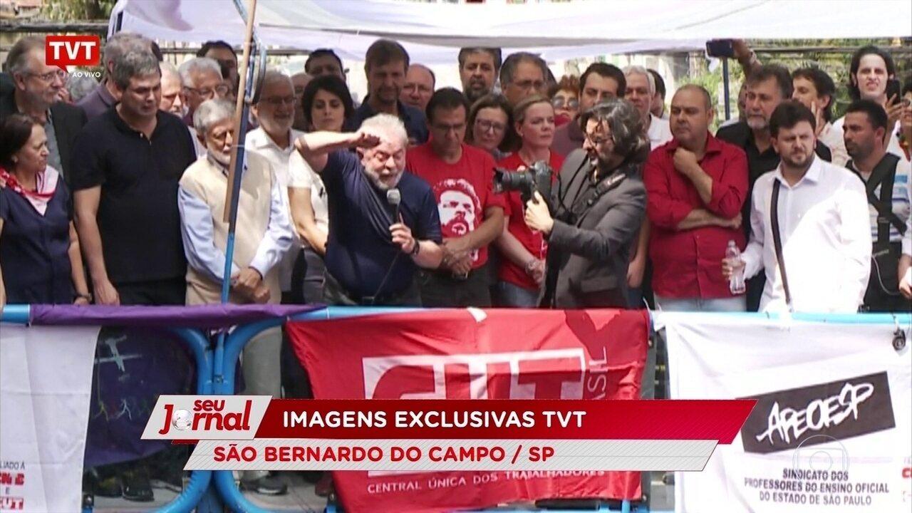 'Eu não estou escondido; eu vou lá na barba deles', diz Lula