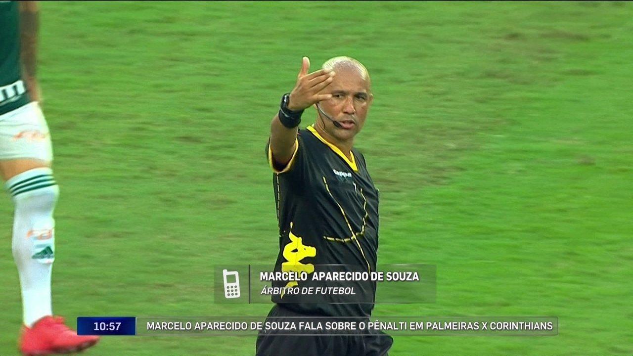 Árbitro de Palmeiras x Corinthians explica decisão de voltar atrás em pênalti marcado