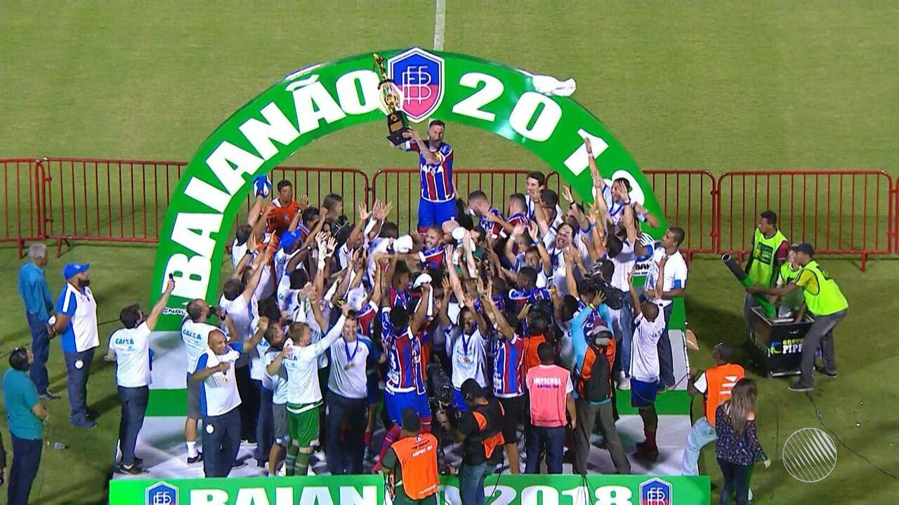É campeão: Bahia vence clássico por 1x0 e conquista o 47° título estadual