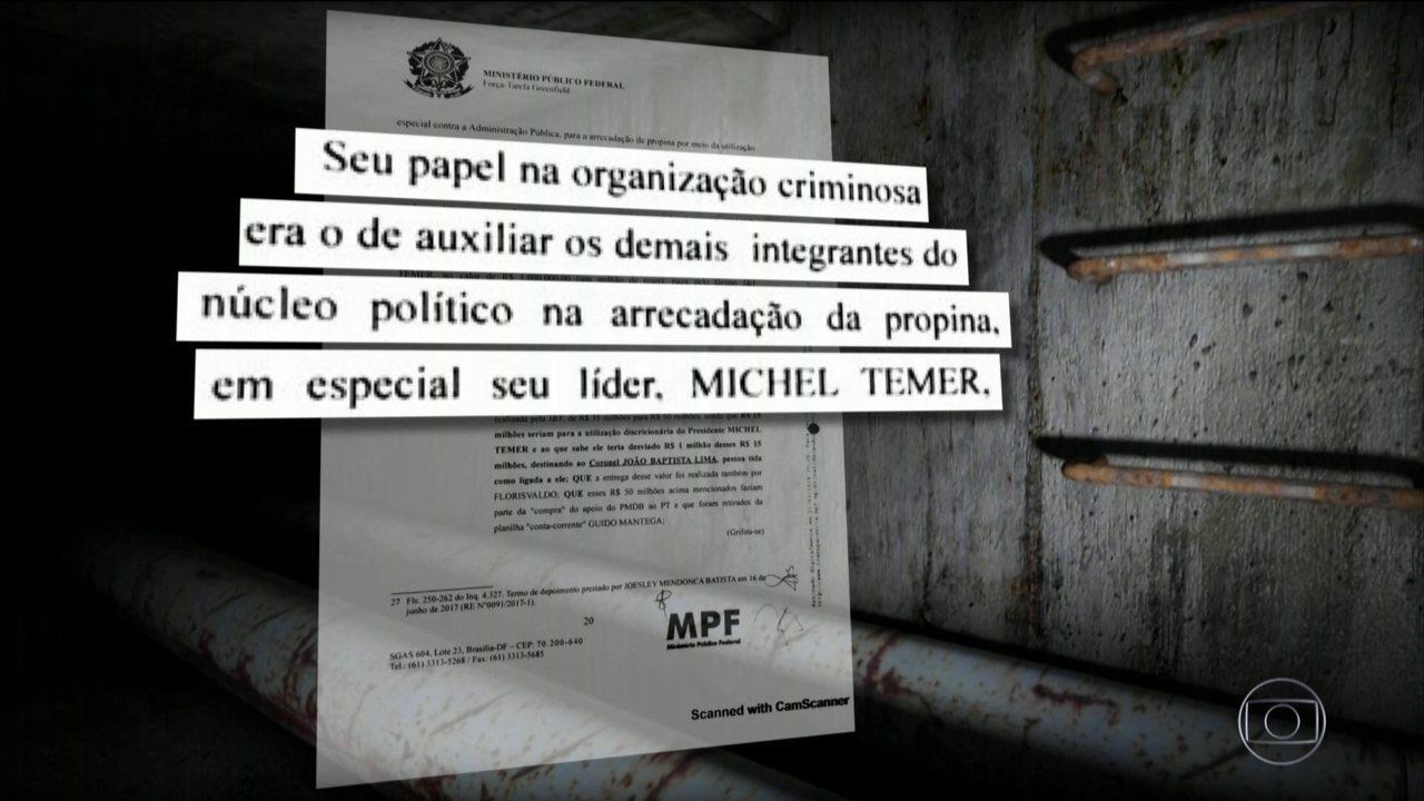 Amigo de Temer, coronel Lima recebia e distribuía propina, diz MP