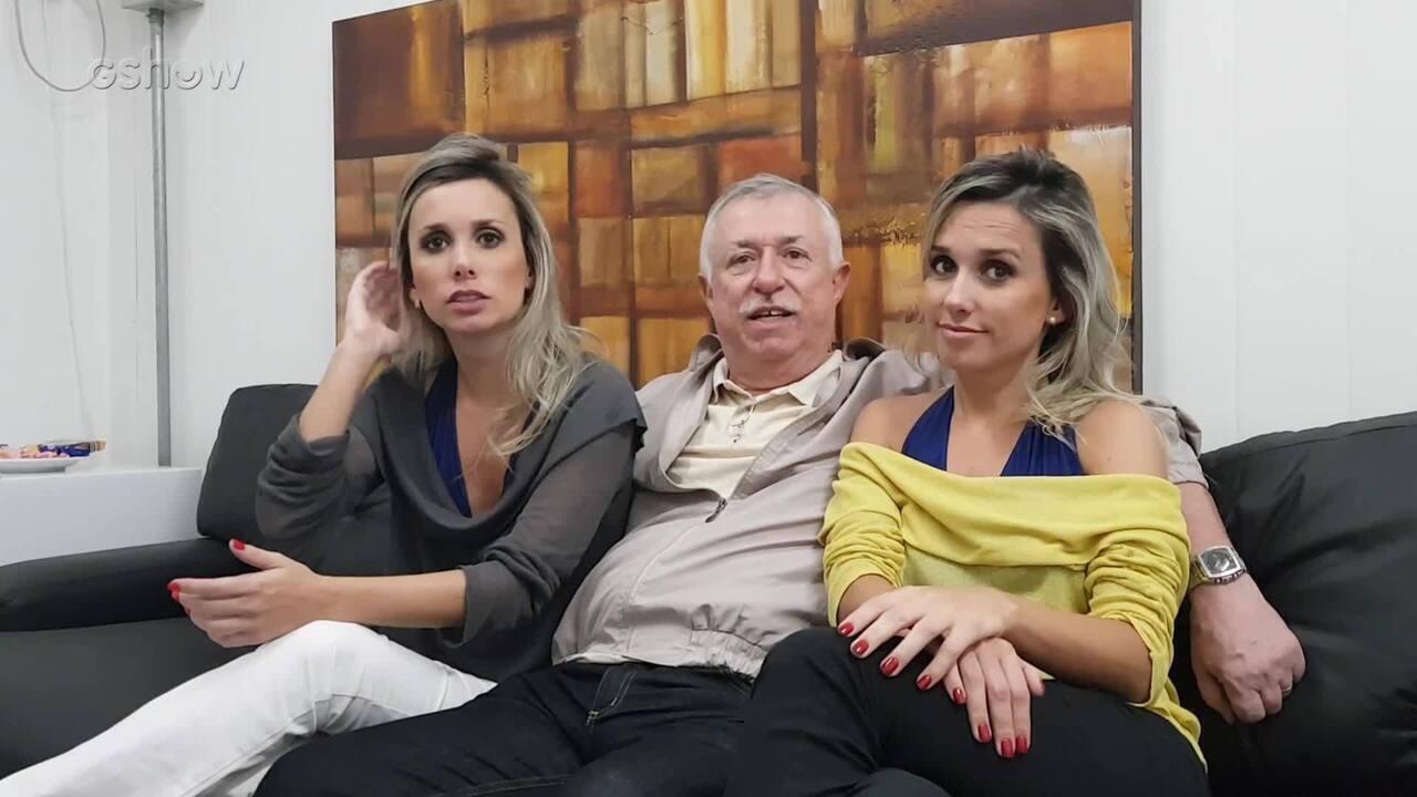 O pai, Milson Castro, enaltece a participação de Marcela e Luciana