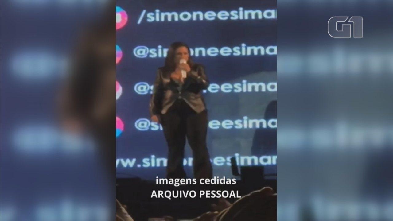 Simone agradece carinho dos fãs após fazer show sem Simaria