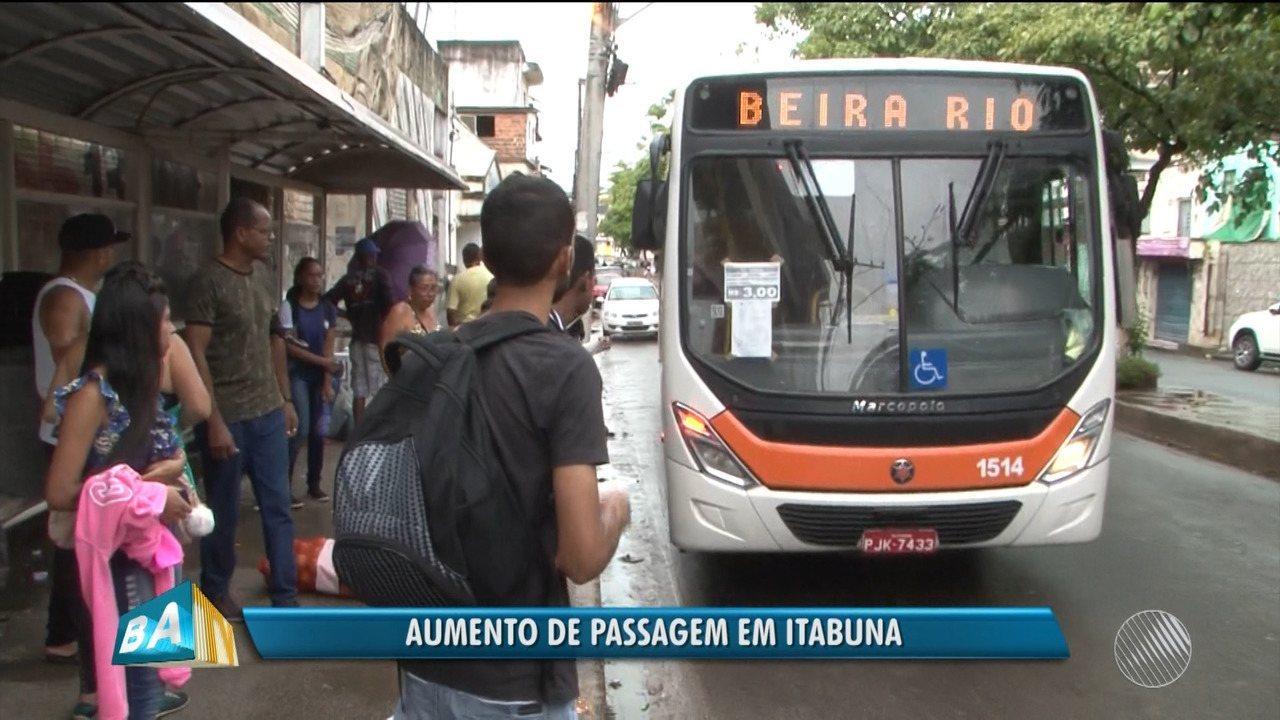 Passagem De ônibus Em Itabuna No Sul Da Bahia Tem Aumento De R 0
