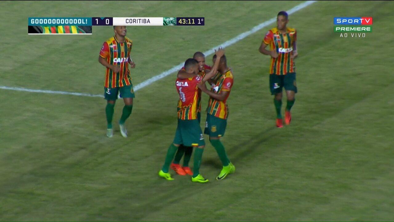 Veja os melhores momentos de Sampaio Corrêa 2x0 Coritiba, pela Série B do Brasileiro