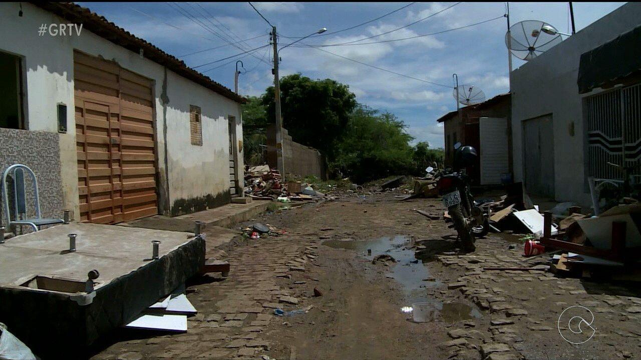 Chuva arrasou a cidade de Bodocó, no Sertão de PE