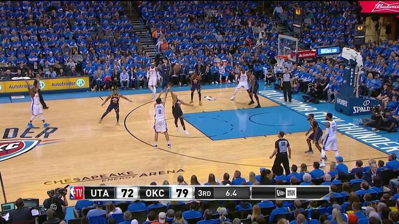 Melhores momentos: Utah Jazz 108 x 116 Oklahoma City Thunder pela NBA