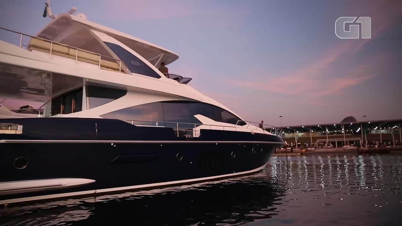 G1 acompanha test drive de embarcação luxosa do Rio Boat Show
