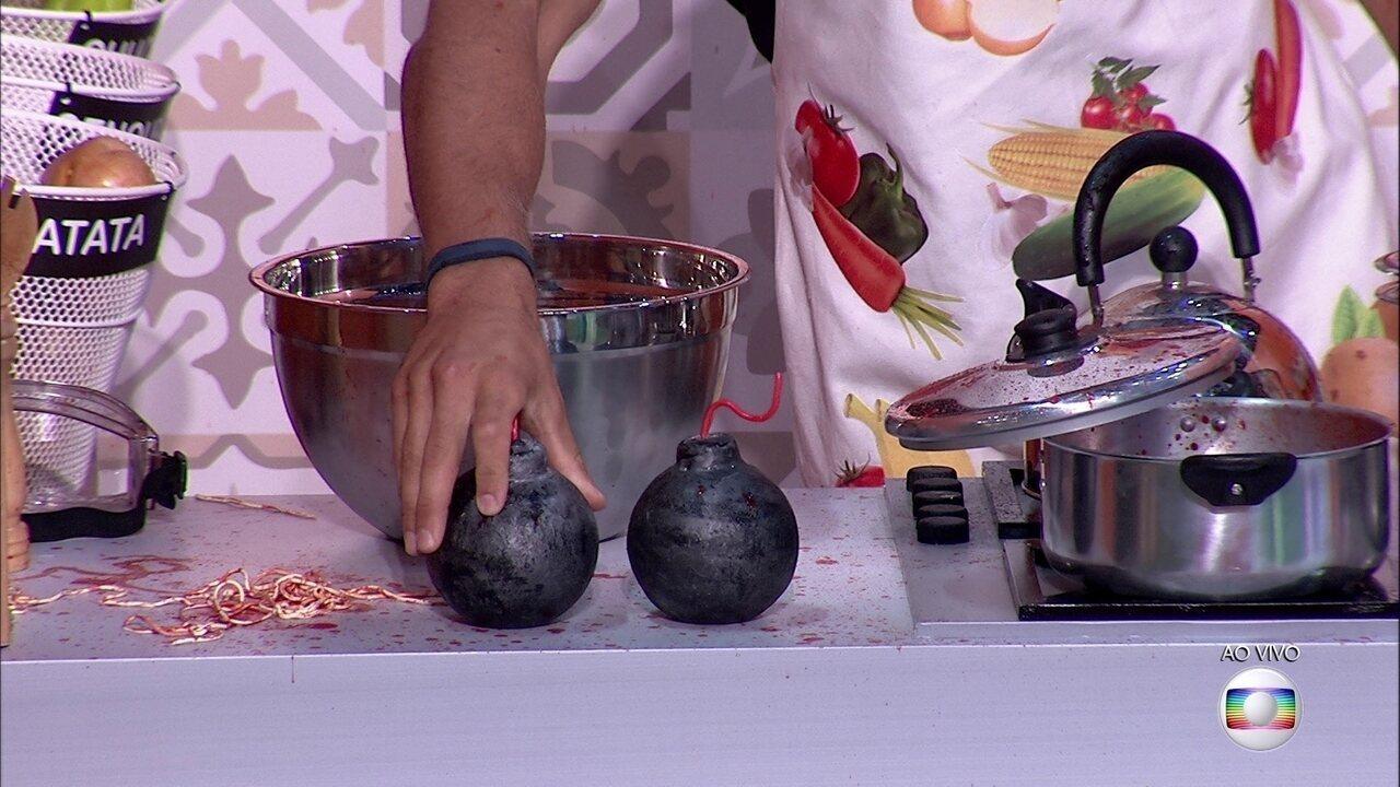 Prova do Líder Cozinha Explosiva: Kaysar e Breno erram a quinta pergunta