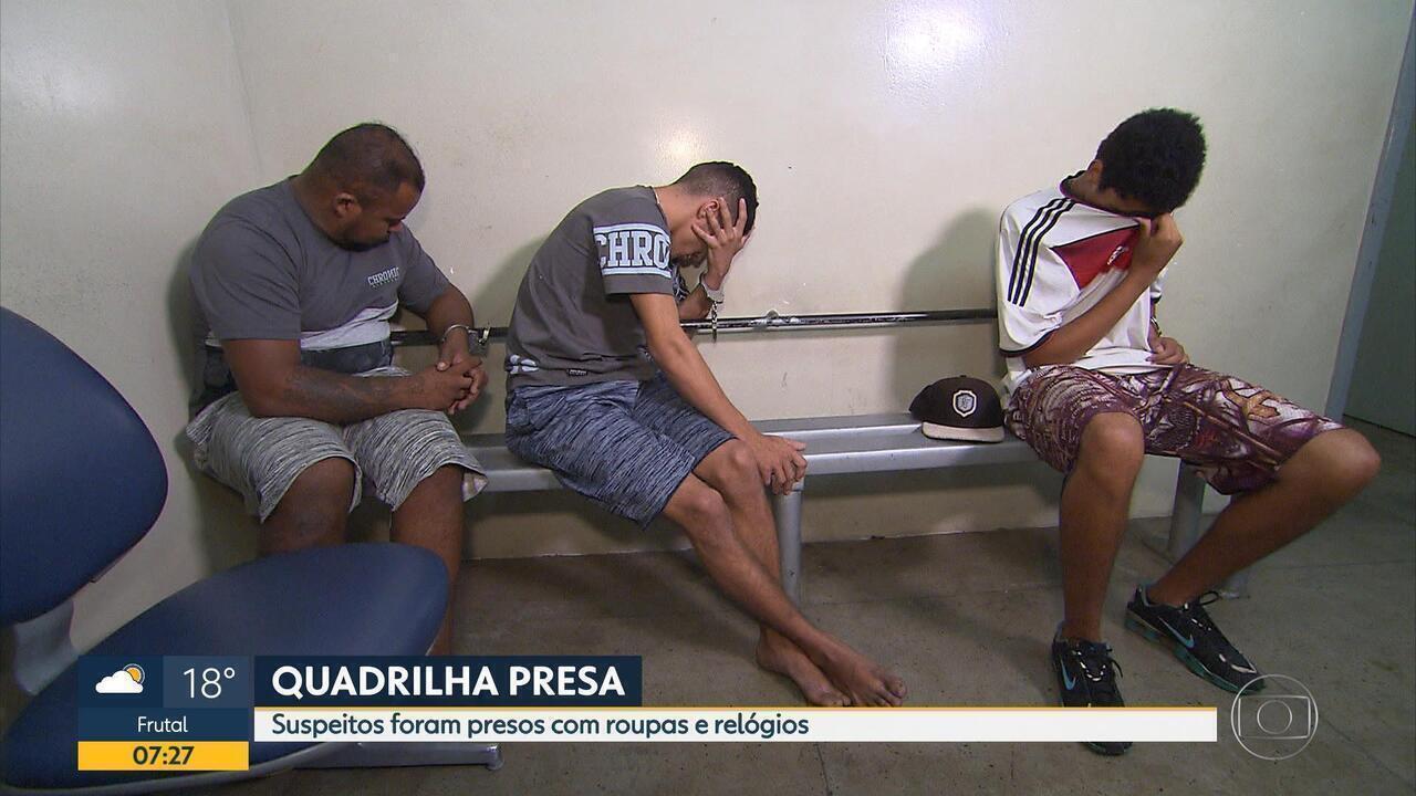 Grupo é preso suspeito de roubos na Região Metropolitana de Belo Horizonte