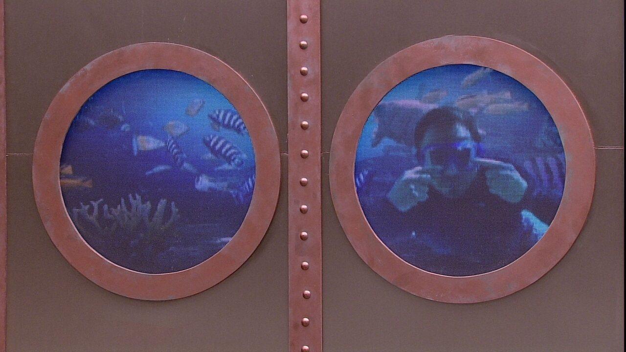 Brothers se divertem com imagem de Tiago Leifert mergulhando