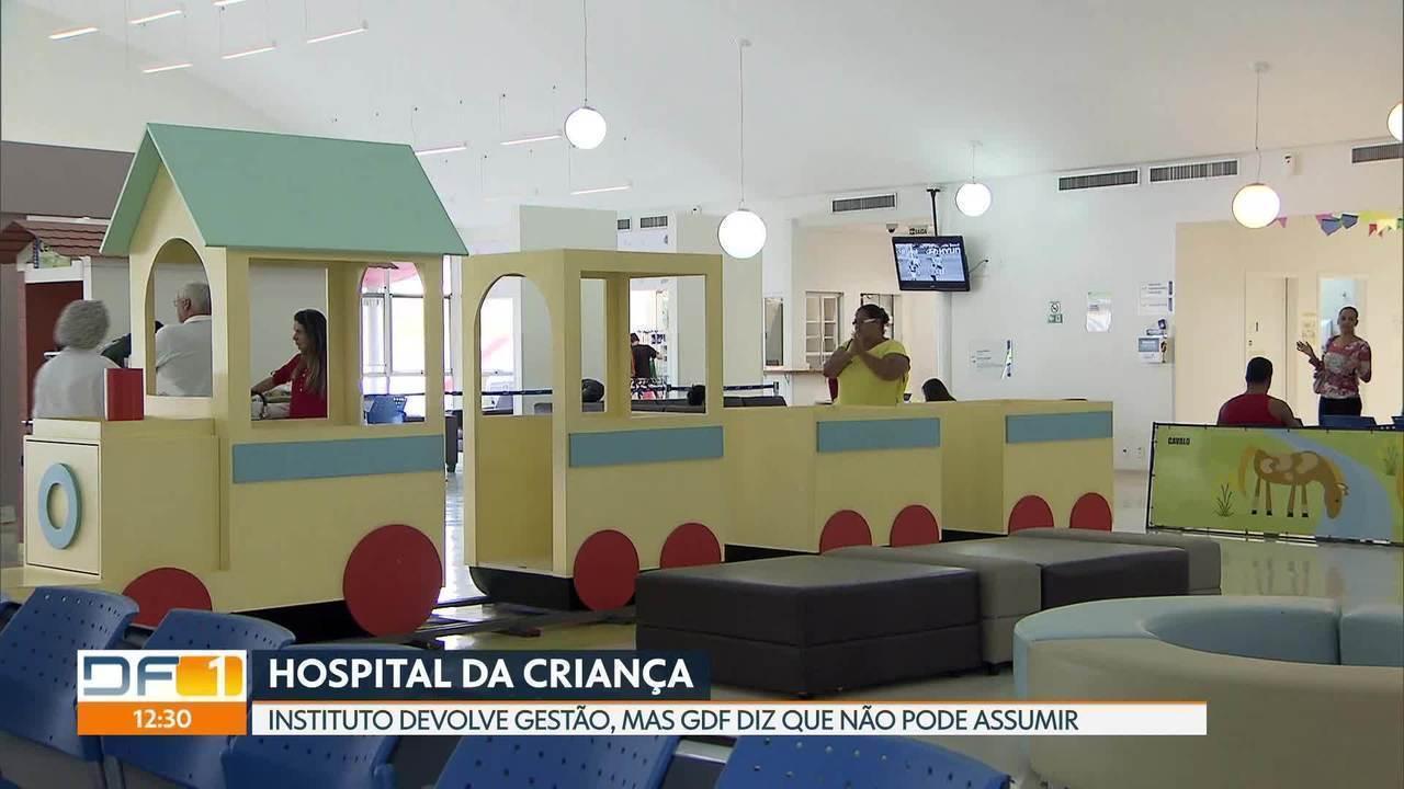 Instituto diz que vai entregar gestão do Hospital da Criança em 30 dias