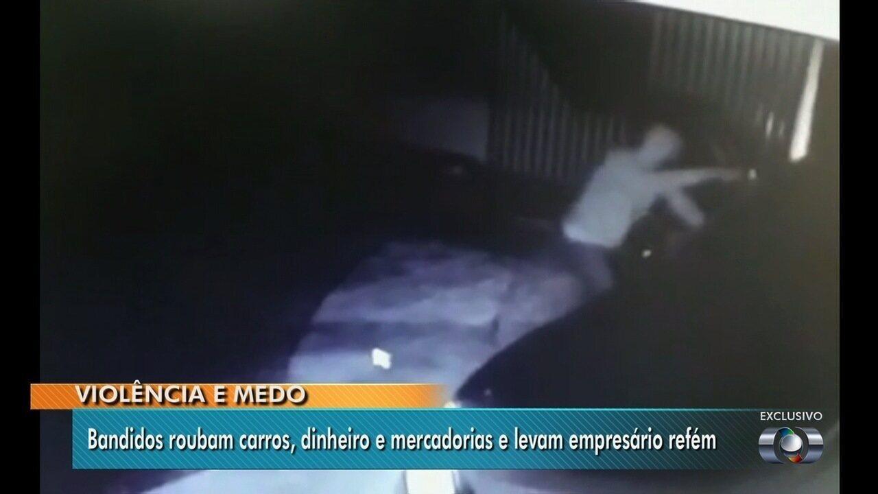Empresário é sequestrado por assaltantes em Goiás