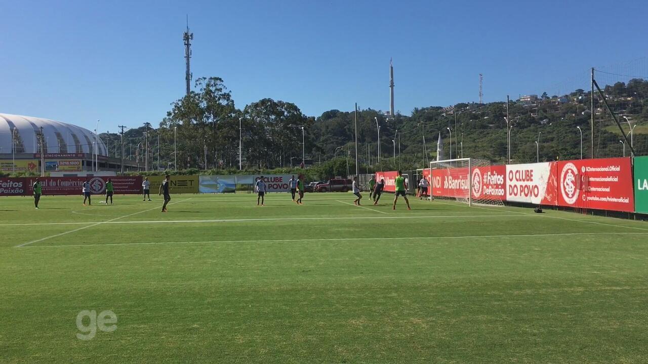 Damião volta a treinar com o grupo do Inter e acelera retorno; Odair evita definir time