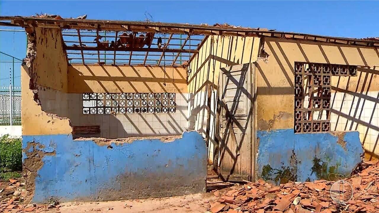 Moradores depredam abatedouro público em Baraúna, no Oeste potiguar