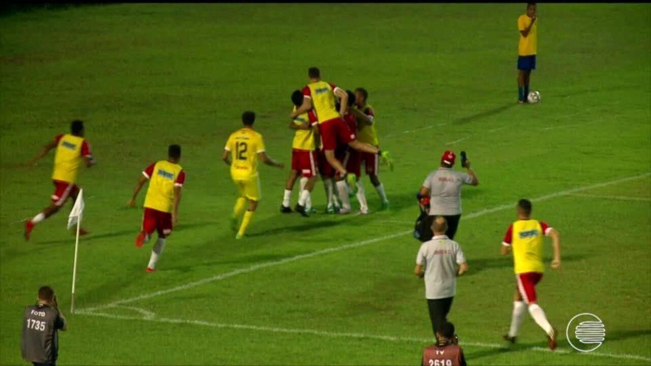 River-PI empata com Sampaio Correia com gol de Eduardo aos 51 minutos do 2º tempo