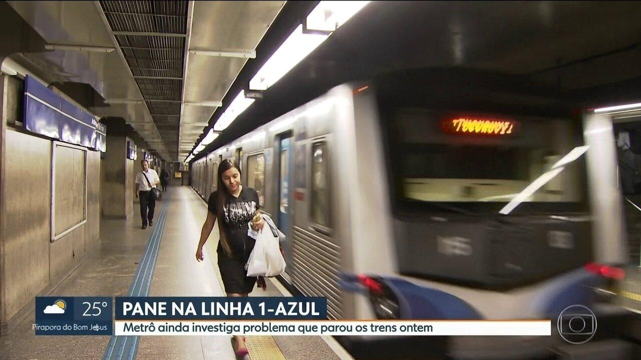 Metrô investiga problema que causou apagão nos trens