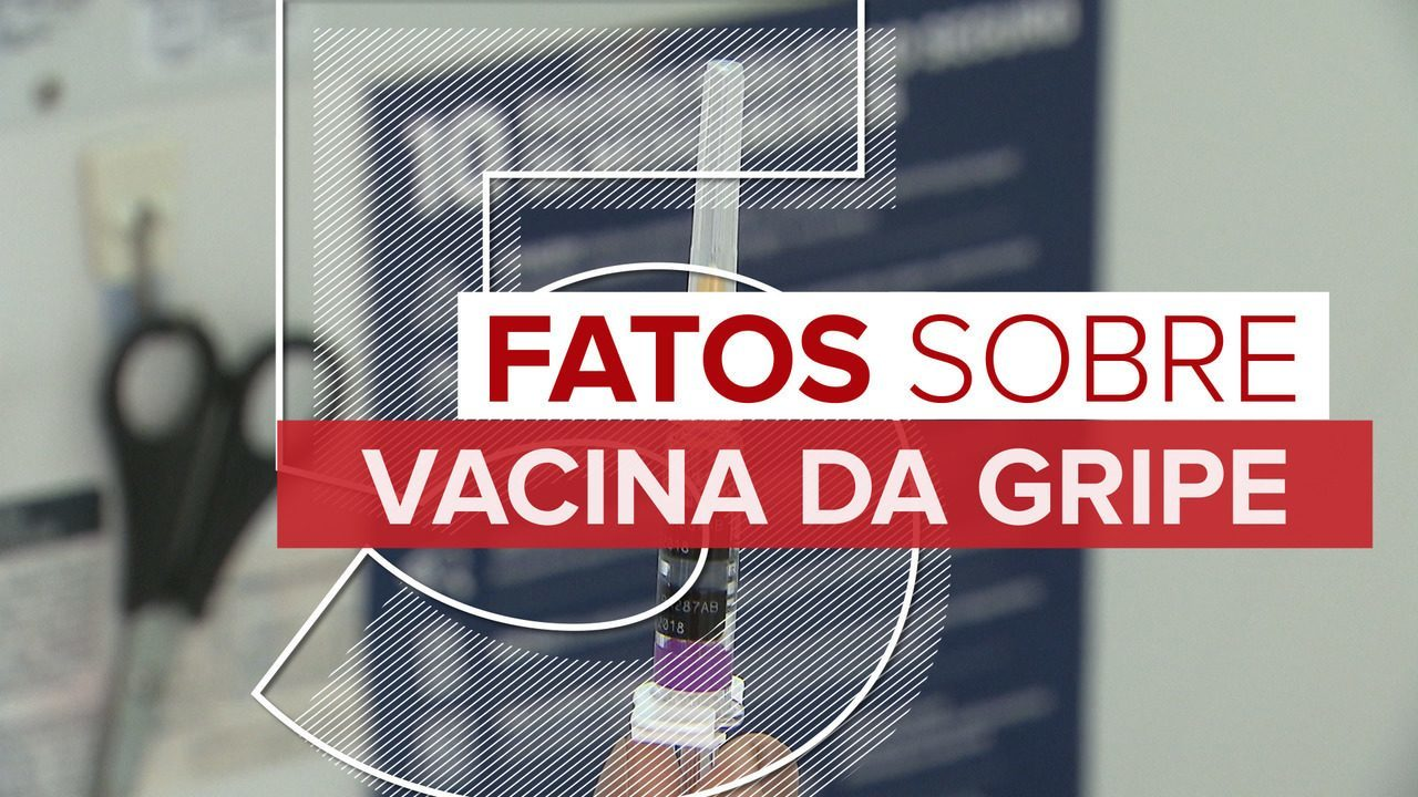 Veja 5 fatos sobre a campanha de vacinação contra a gripe
