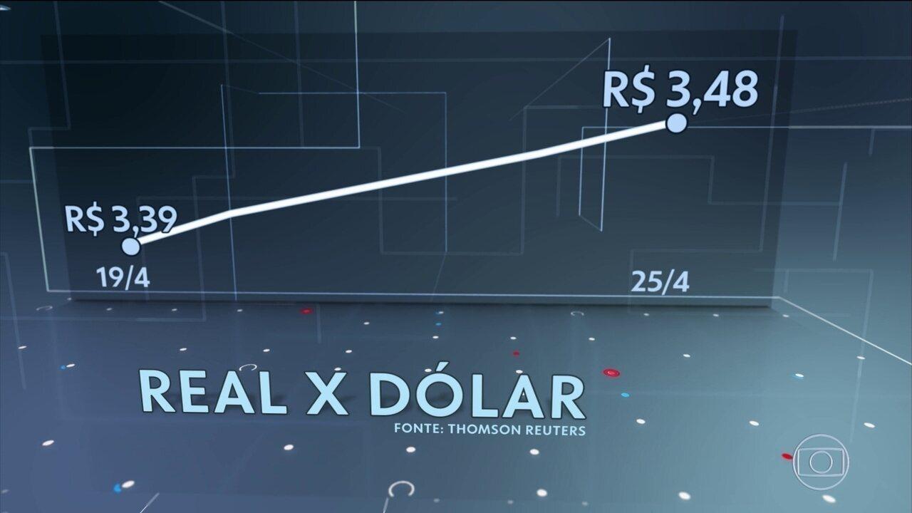 Dólar sobe pela quinta vez seguida e fecha na maior cotação desde junho de 2016