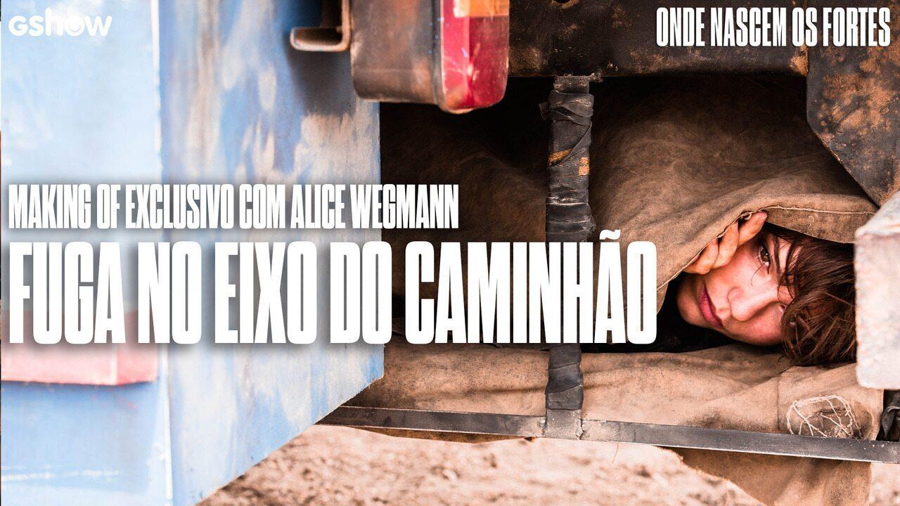 Alice Wegmann mostra como foi feita cena de fuga em eixo de caminhão