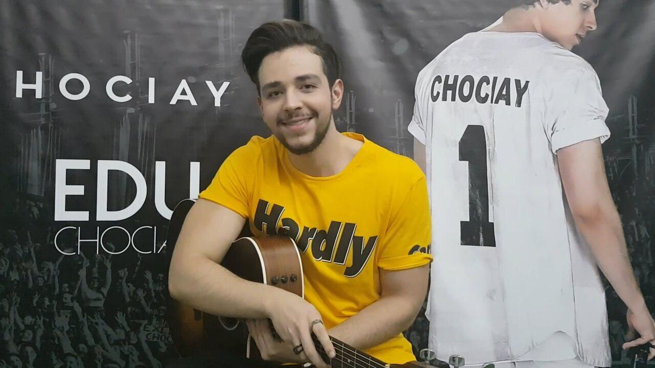 Esquenta: Edu Chociay canta 'Ciúmes' e 'Mina'