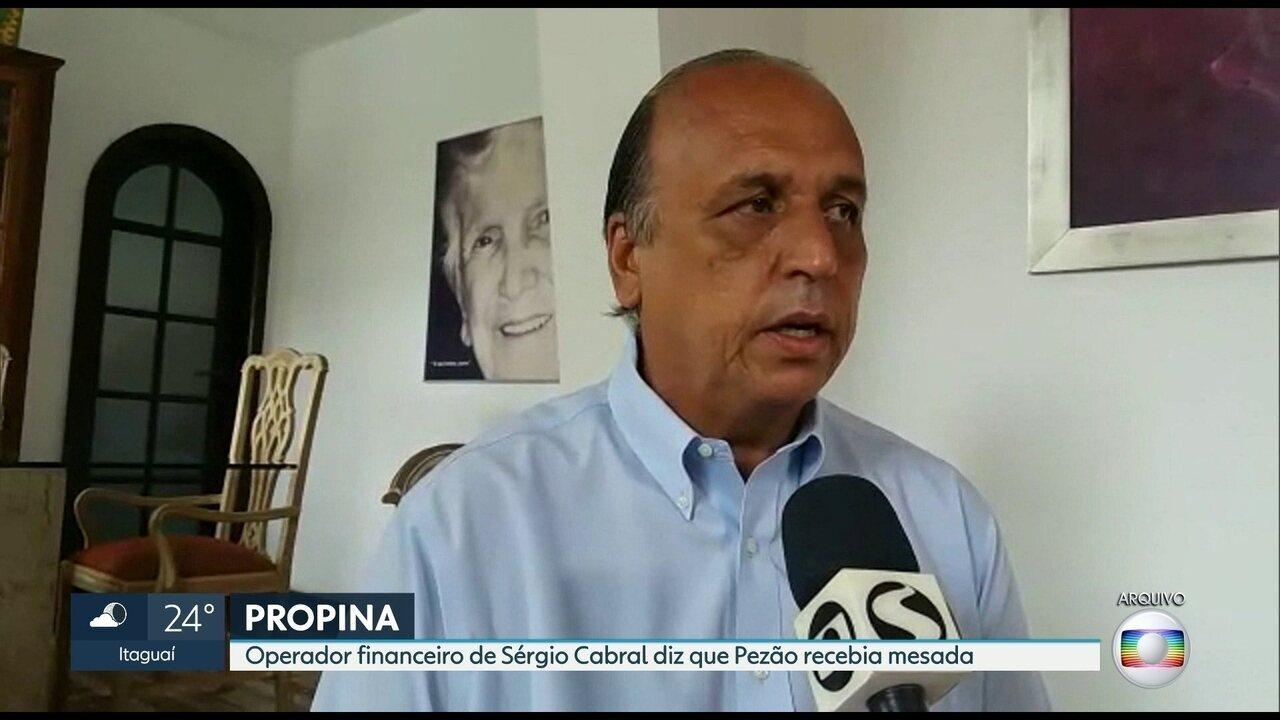 Operador financeiro de Sérgio Cabral diz que Pezão recebia mesada