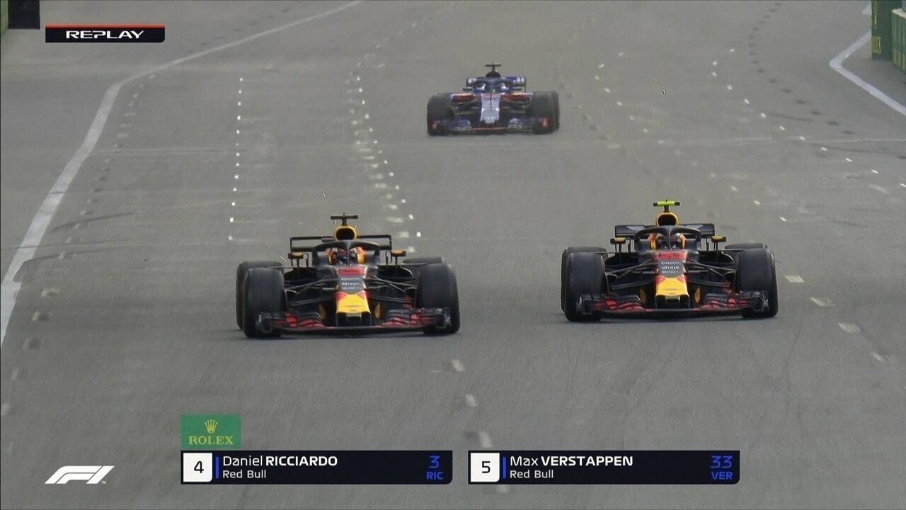 Ricciardo ultrapassa Verstappen e assume quarta posição no GP do Azerbaijão