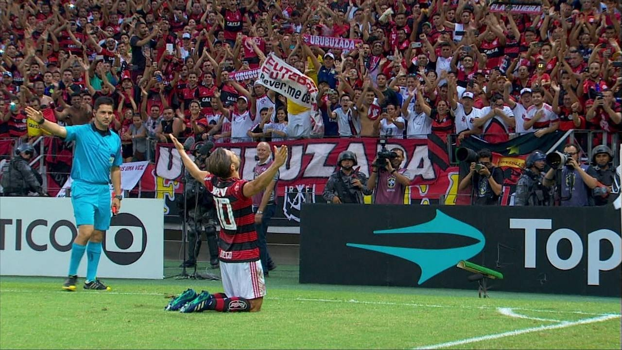 Os gols de Ceará 0 x 3 Flamengo pela 3ª rodada do Brasileirão