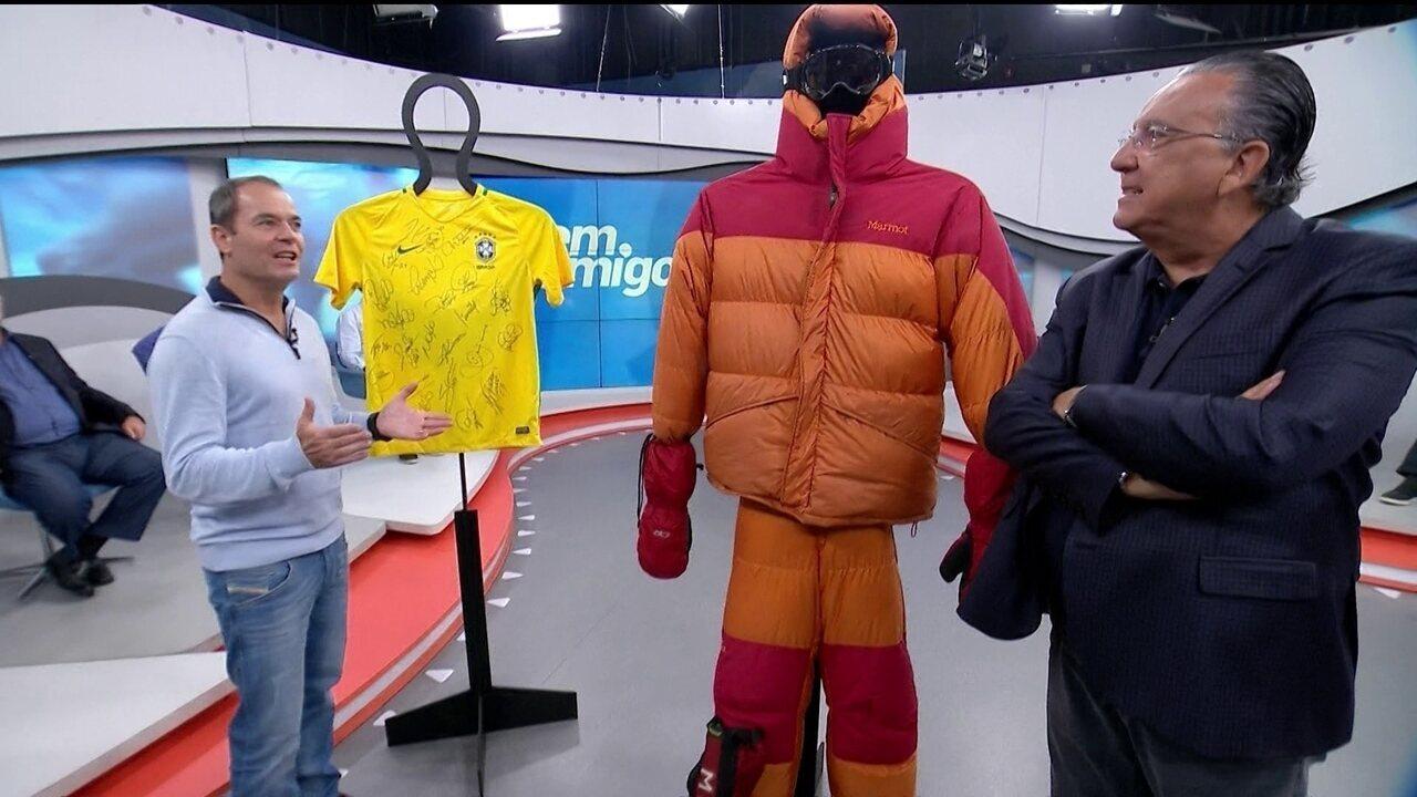 Clayton Conservani explica como levará camisa da Seleção ao monte Elbrus, na Rússia