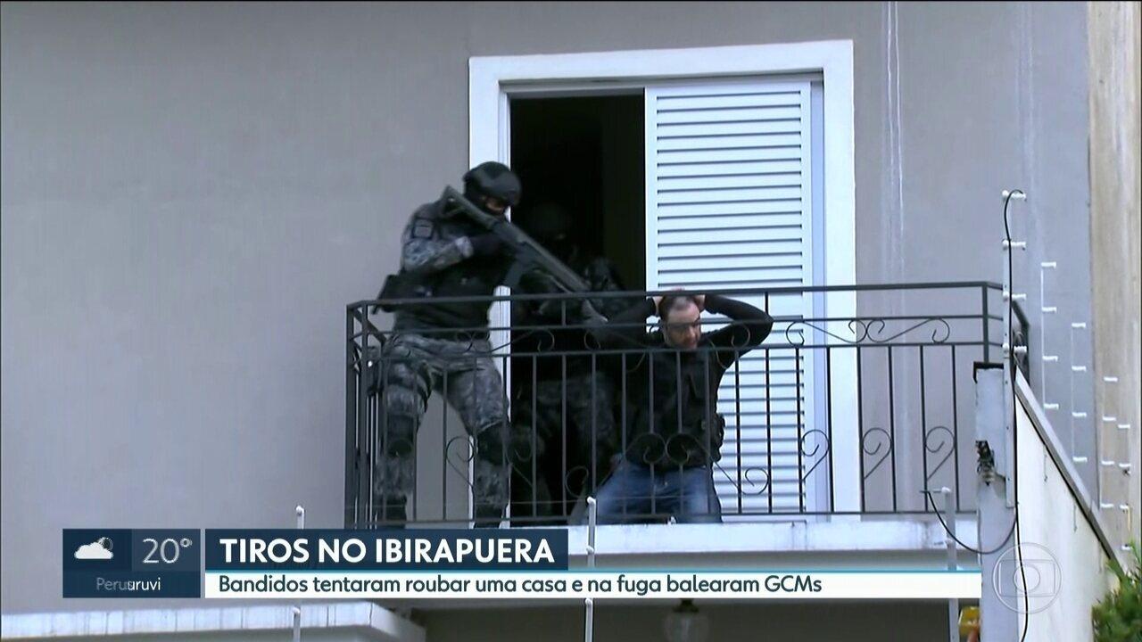 Bandidos trocam tiros com guarda no Ibirapuera e fazem refém