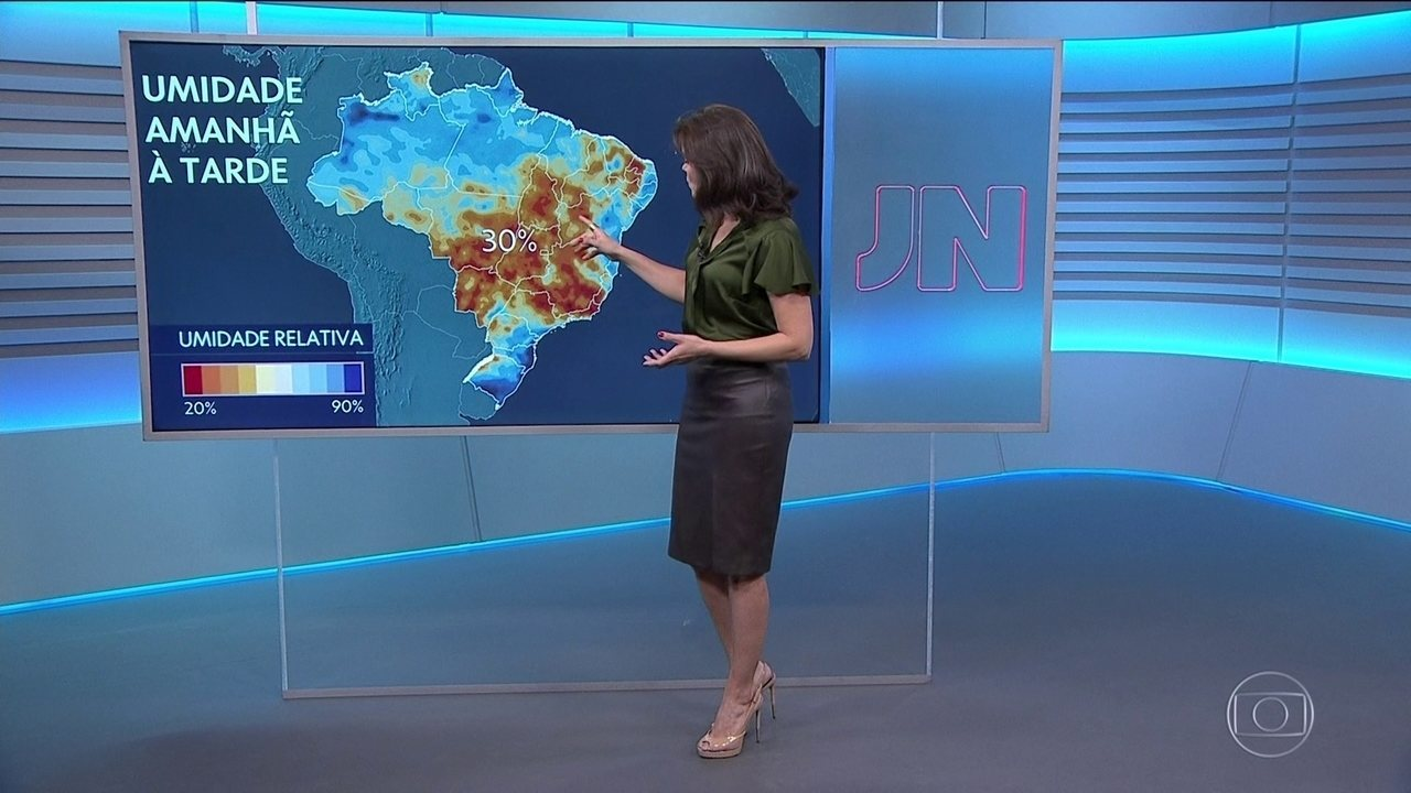 Eliana Marques detalha a previsão do tempo para esta quarta-feira
