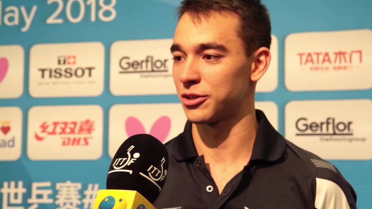 Hugo Calderano fala sobre vaga histórica nas quartas do Mundial de tênis de mesa